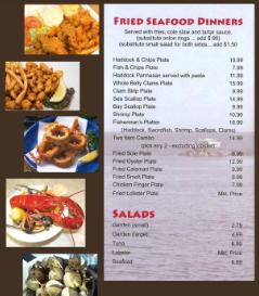 Menu West Boylston Seafood Restaurant Market